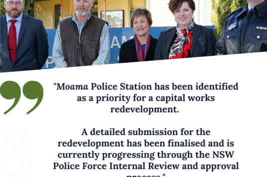 Moama Police Station a priority for the 2020/2021 financial year